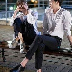 "Official Poster . . Lee Jong Suk as Kang Chul Han Hyo Joo as Oh Yeon Joo drama ""w - two worlds"" . . . @jongsuk0206 . #leejongsuk #hanhyojoo #wtwoworld #w"
