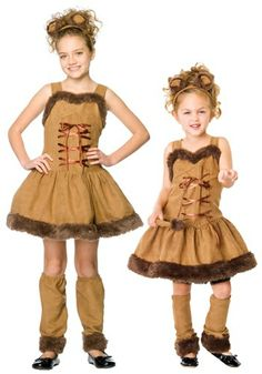 Girl's Cuddly Lion Costume. What the...? No. Just no. Do not send your children out like this in public.