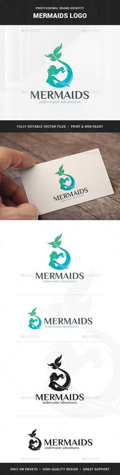 Mermaids Logo Template - Humans Logo Templates Download here : http://graphicriver.net/item/mermaids-logo-template/16151466?s_rank=13&ref=Al-fatih