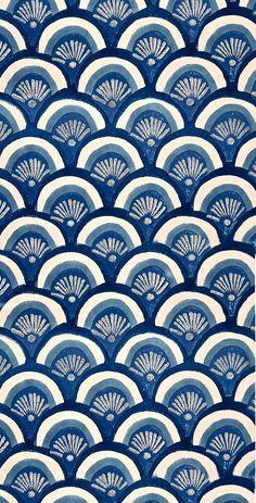 Beautiful patterns in ocean blues.