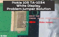 Nokia 105 White Display Problem Jumper Solution This post helps you to repair Nokia 105 White Display Problem Set is Dead Problem White Problem Set, Problem And Solution, Bio Data, Display Screen, New Model, Something To Do, Jumper, Hardware, Jumpers