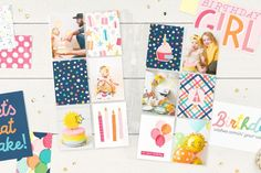 Scrapbooking Pockets for More Memory Space | Make It from Your Heart First Birthday Parties, Girl Birthday, First Birthdays, Birthday Cards, Pocket Page Scrapbooking, Scrapbooking Layouts, Scrapbook Pages, Pocket Cards, Basic Shapes