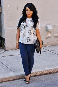 Floral print and jeans   My Voguish Diaries