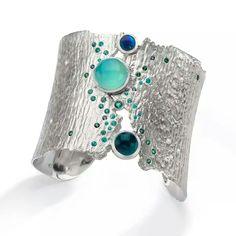 Oceania sterling cuff bracelet by LDJ Jewelry
