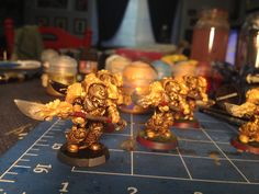 Modern paints but that Golden Griffon drybrush really brings out the gold.