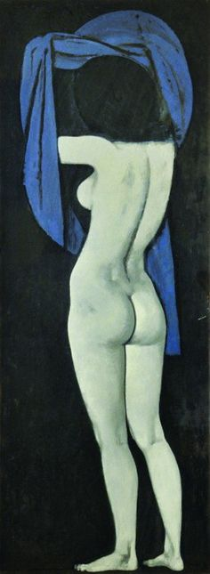 Yannis Moralis - female figure - 1964 Artist Painting, Figure Painting, Art Antique, Ecole Art, Greek Art, Illustrations, Sculpture, Les Oeuvres, Art History