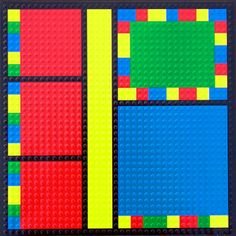 Paper Wizard - Block Party Collection - Lego - 12x12 Embossed Paper - Color Block 1 at Scrapbook.com