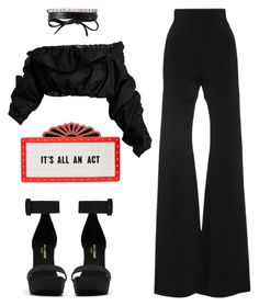 """It Is"" by kimeechanga on Polyvore featuring Cushnie Et Ochs, Kate Spade, Yves Saint Laurent, E L L E R Y and Fallon"