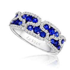 LeVian Sapphire and Diamond Ring! Available at Houston Jewelry!   www.houstonjewelry.com