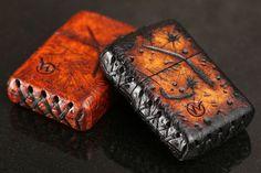 Wasteland Oddities Distressed Leather Zippo Drop - Massdrop