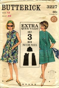 Burda Sewing Patterns, Vintage Sewing Patterns, Hawaii Outfits, Hawaii Clothes, First Sewing Projects, Nautical Dress, Button Front Dress, Classic Outfits, Lounge Wear