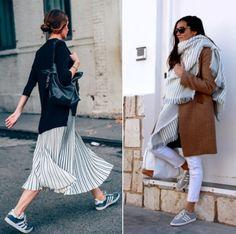 O Tênis Gazelle Cinza é ótimo para usar com diversos tipos de roupas e looks. Aqui algumas inspirações