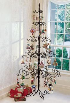 Wrought Iron Christmas Tree, Metal Christmas Tree, Ornament Tree ...