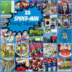 25 fabulous and fun spiderman party ideas you can have at home collected by KidsParties123