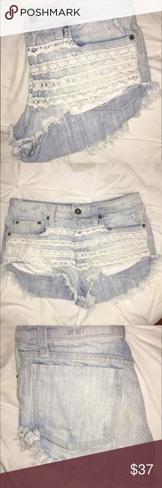 LF Carmar Lace Cut off Shorts! Like New. LF Lace Carmar Cut off shorts. - Make offers price is negotiable. LF Shorts Jean Shorts