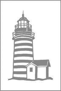 lighthouse Stencil | Etchmaster Store: Miscellaneous Pre-Cut Stencil Pack (6 stencils)