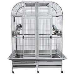 Castello 1 - Medium Parrot Cage with Divider.  Wonderful alternative to the SLTPC from King's Cages.