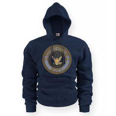 Soffe - Navy Emblem Hoodie
