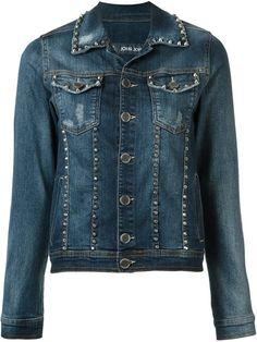 Compre John John Jaqueta jeans com aplicações em Restoque from the world's best…