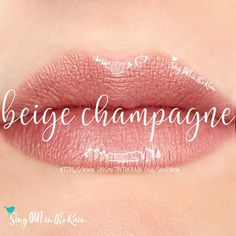 Beige Champagne is a warm beige with a champagne frosty lipcolor with yellow undertones.  LipSense is the premier product of SeneGence, International #senegence #lipsense #beigechampagne #lipstick #lipcolor