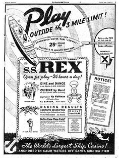 """For two years in the late 1930s, the S.S. Rex was moored just past the three-mile mark off the coast of Santa Monica, California. There, it was a gambling haven said to bring in more than $100,000 profit each month. Run by gangster Tony Cornero, the ship was finally closed at the end of 1939. Tony and his gambling ship play pivotal roles in the plot of """"Haunting at Ocean House,"""" the fifth and final James Murray mystery."""