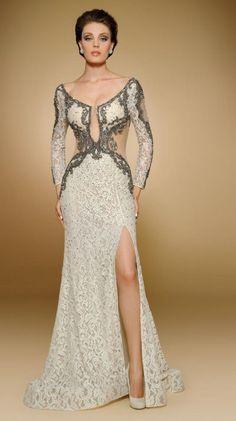 6d09434e9ac Rina Di Montella 1801 Stretch Lace Mother of the Bride Dress