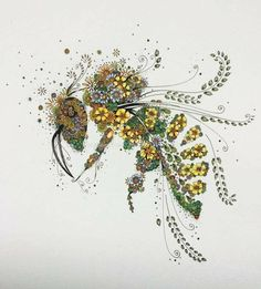 Flower bee collage #beekeepingideas