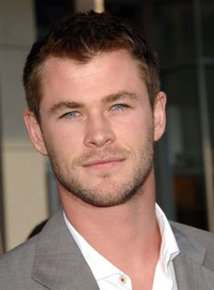 Chris Hemsworth of such notable movies like the most recent 'Star Trek', 'Thor', & 'The Avengers'! HE HAS SUCH A BEAUTIFUL SMILE AND EYES....