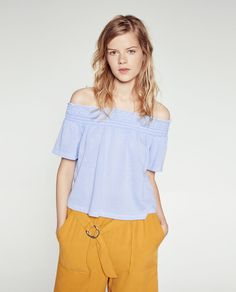 Image 2 of OFF-THE-SHOULDER T-SHIRT from Zara
