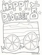 Pioneer Day Coloring Pages