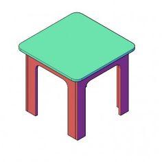 Kindertafel bouwtekeningen