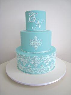 #blue #wedding #cake by Frosted Indulgence