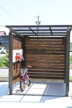 Bike Shed, Metal Pergola, Bike Storage, Outdoor Living, Outdoor Decor, Geometric Art, Shelter, Tiny House, Diy And Crafts
