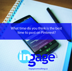 What time do you think is the best time to post on Pinterest?  #Ingageurbiz