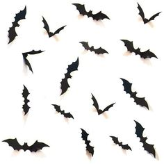 36 pcs Halloween Party Supplies Decorations Window Decor Scary Black... (95.020 IDR) ❤ liked on Polyvore featuring home, home decor, holiday decorations, halloween, halloween home decor, black home accessories and black home decor