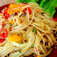 Need to try this one first...Green Papaya Salad | Asian Fusion Girl
