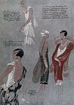 La mode des années f Plusieurs modèrles de robes habillées