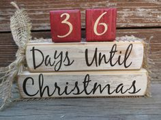 Your family will get excited watching the days go by until Christmas!! These vintage Christmas blocks are sanded, painted then sanded and