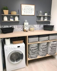 scandinavian furniture Home Deco auf In - furniture Laundry Room Organization, Laundry Room Design, Laundry Rooms, Home Deco, Küchen Design, House Design, Design Ideas, Laundry Room Inspiration, Interior Inspiration