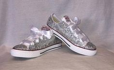 All Over Bling Kids Low Top Converse by DreamBigCC on Etsy