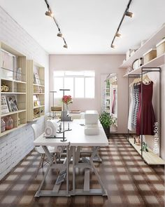Sewing Room Design, Sewing Room Decor, Sewing Spaces, Sewing Room Organization, Sewing Rooms, Home Command Center, Fashion Room, My Room, Room Inspiration
