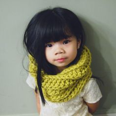 Thick & Cozy Soft Kids' Cowl Scarf / Tdot Kid by QUIBcollection