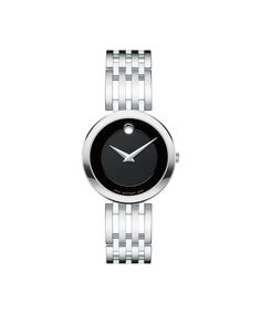 When night falls, the dazzling Movado Esperanza® diamond timepiece dresses her wrist in dramatic style. Crafted in stainless steel, this quality watch. Diamond Bezel Watch with Black Museum® Dial (Model: Stainless Steel Watch, Stainless Steel Bracelet, Black Museum, Black Rings, Bracelet Designs, Watch Bands, Watches For Men, Unique Watches, Bracelet Watch