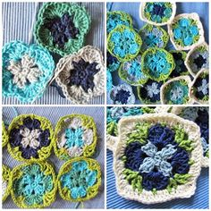 Colour Crochet Love: Flowers, Flowers, flowers... My Granny Madelief fl...