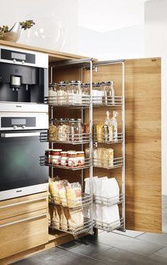 """Ausziebares Korbsystem """"Linee"""" von Team 7 #kitchendesign"""