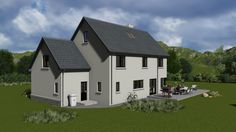ts066 House Designs Ireland, Two Story House Design, Two Story Homes, New Builds, House Plans, Bungalow Ideas, Exterior, Houses, How To Plan