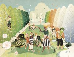 Four Freedoms Park Brochure Victo Ngai It was a great honor to illustrator the gate fold brochure for Four Freedoms Park's annual fundraising appeal. Being a fan of architecture Louis I. Kahn and this...