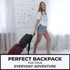 👍 AMAZING BAG For Work & Travel Laptop & Tablet Compartment ✅ Big Capacity ✅ Luggage Strap ⭐ Airline Carry-On Size Source by nordaceofficial bags Travel Backpack, Travel Bags, Backpack Outfit, Travel List, Airline Carry On Size, Packing List Beach, Cool Inventions, Luggage Straps, Work Travel