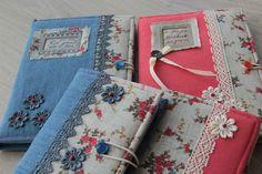 Блокноты в текстильной обложке