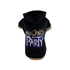 Pet Life LED Lighting Halloween Party Hooded Sweater Pet Costume Medium Black *** To view further for this item, visit the image link.(This is an Amazon affiliate link and I receive a commission for the sales)
